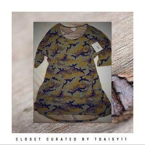 LuLaRoe | 2XL Camouflage Irma Tunic